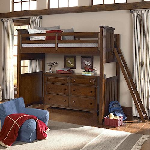 Legacy Classic Kids Dawsons Ridge Twin Size Loft Bed with Ladder