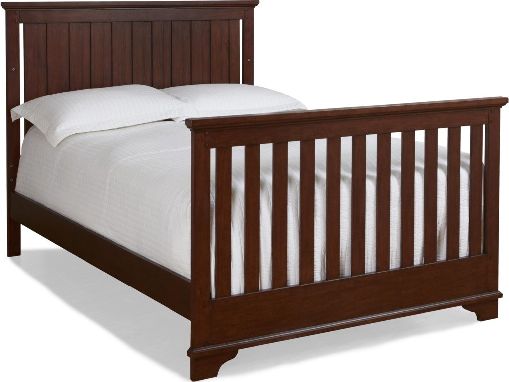 Crib Shown as Converted to Full Size Youth Bed