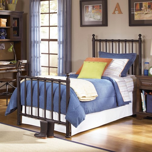 Legacy Classic Kids Dawson's Ridge Twin Size Off-Black Metal Bed