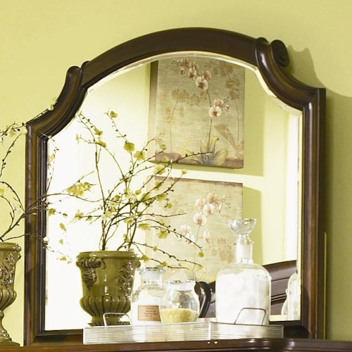 Legacy Classic Evolution Scroll Top Bureau Beveled Mirror