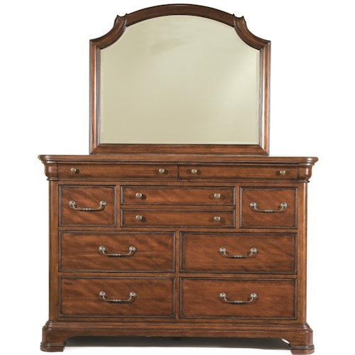 Legacy Classic Evolution Bureau with Scroll Top Mirror
