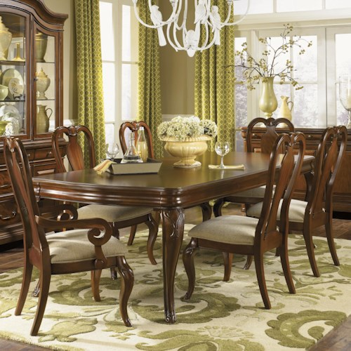 Legacy Classic Evolution Seven Piece Dining Set with Queen Anne Chairs