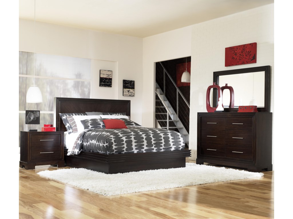 Shown with Nightstand, Bureau, and Mirror - Bed Shown May Not Represent Size Indicated