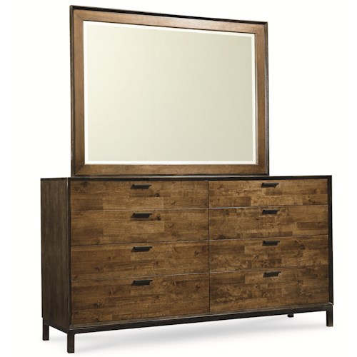 Legacy Classic Kateri Dresser and Mirror Set in Hazelnut Finish