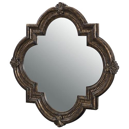 Legacy Classic La Bella Vita Decorative Accent Mirror with Shell Carvings