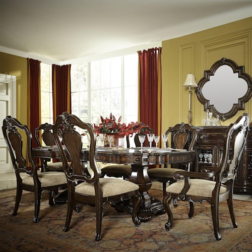 Legacy Classic La Bella Vita 7 Piece Dining Set with Splat Back Chairs