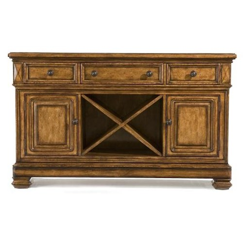 Legacy Classic Larkspur Credenza Sideboard with Marble Top