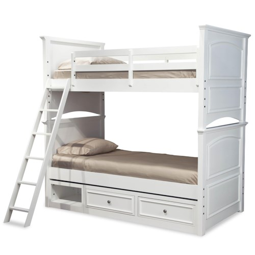 Legacy Classic Kids Madison Classic Twin-over-Twin Size Bunk Bed with Underbed Storage Unit