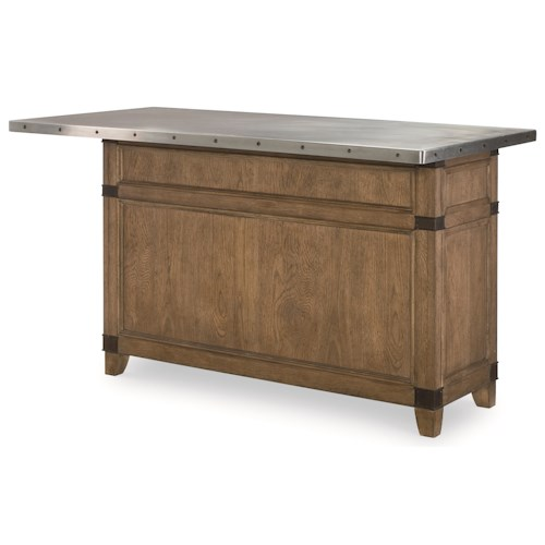 Legacy Classic Metalworks Complete Kitchen Island with Stainless Steel Top
