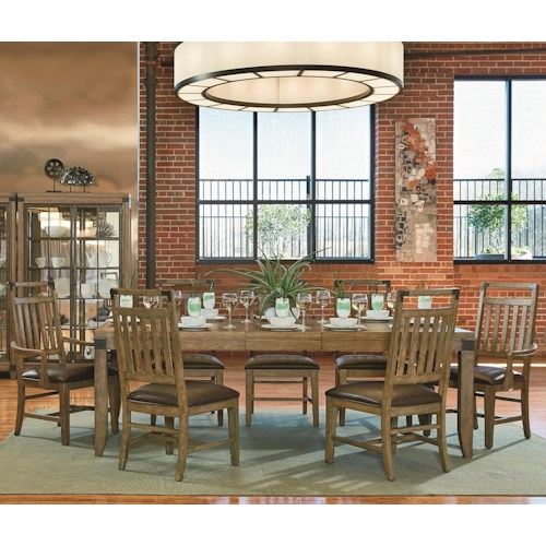 Legacy Classic Metalworks 8 Piece Table  and Chair Set with Leaf