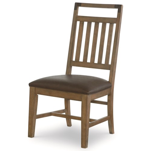 Legacy Classic Metalworks Splat Back Side Chair with Upholstered Seat