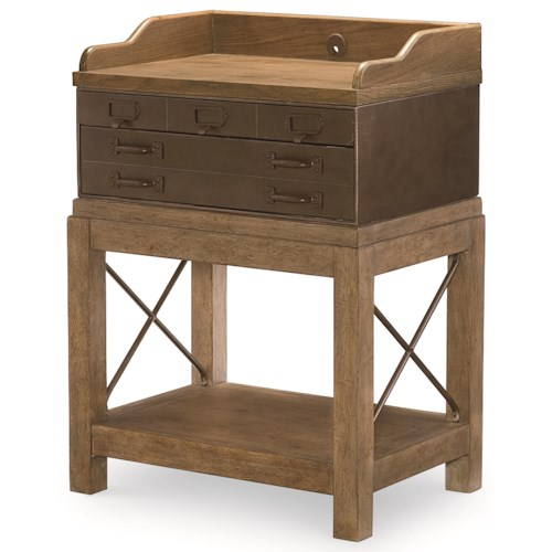 Legacy Classic Metalworks Bedside Chest with USB Charging Port