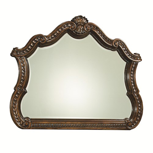 Legacy Classic Pemberleigh Arched Mirror with Ornamental Carved Details