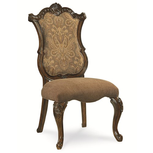 Legacy Classic Pemberleigh Upholstered Side Chair with Cabriole Legs and Scroll Feet