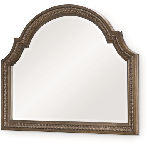 Legacy Classic Renaissance Arched Dresser Mirror with Egg & Dart Molding