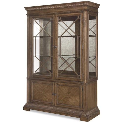 Legacy Classic Renaissance Display Cabinet with Built-In Lighting