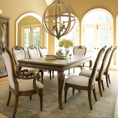 Legacy Classic Renaissance 9 Piece Table and Chair set with an 18
