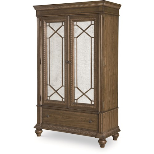 Legacy Classic Renaissance Armoire with Antiqued Mirror Doors