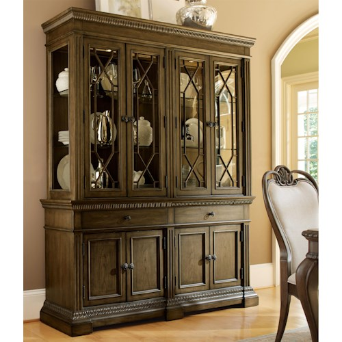 Legacy Classic Renaissance China Cabinet with 4 Adjustable Glass Shelves