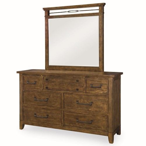 Legacy Classic River Run 7-Drawer Dresser and Mirror Set