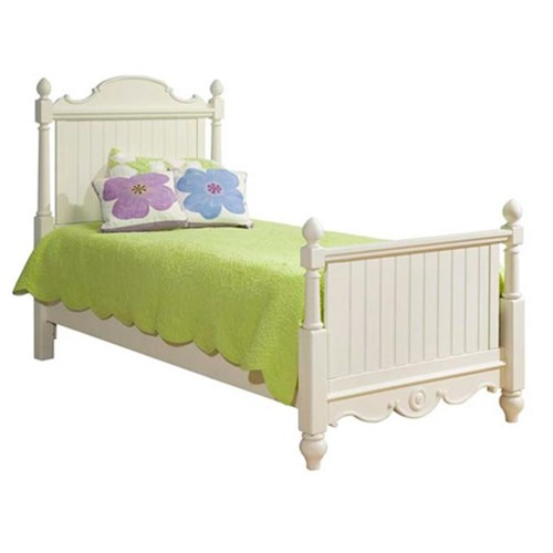 Legacy Classic Kids Summer Breeze Twin-Size Scroll Top Low Poster Bed