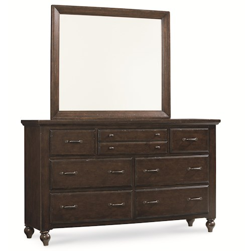 Legacy Classic Thatcher Complete 7 Drawer Dresser and Mirror Set