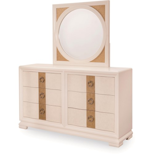 Legacy Classic Tower Suite 6 Drawer Dresser and Mirror Set