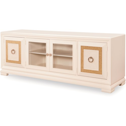Legacy Classic Tower Suite Entertainment Console with Glass Doors