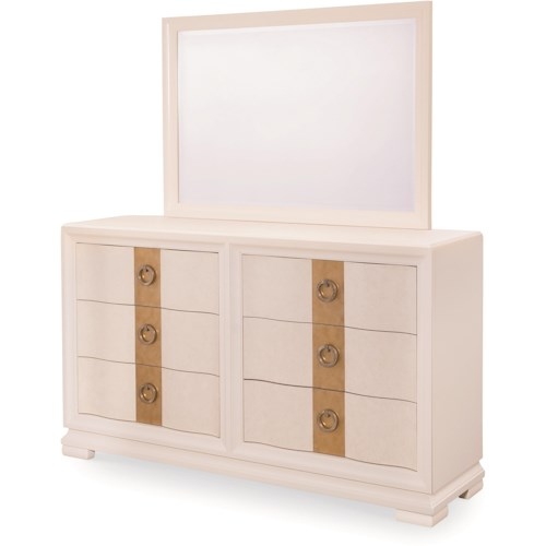 Legacy Classic Tower Suite 6 Drawer Dresser and Landscape Mirror Set