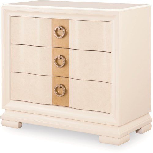 Legacy Classic Tower Suite 3 Drawer Bedside Chest with Outlet