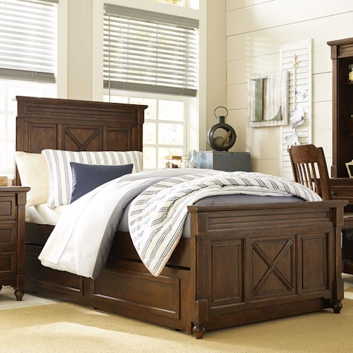 Legacy Classic Kids Big Sur by Wendy Bellissimo Twin Panel Bed with Trundle