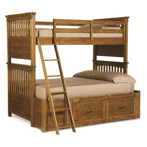 Legacy Classic Kids Bryce Canyon Twin Over Full Bunk Bed with Underbed Storage Unit