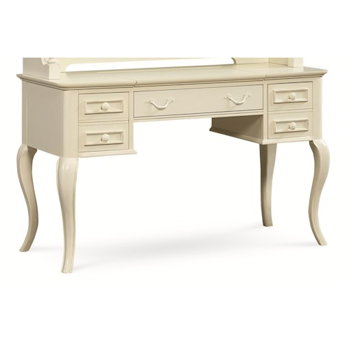 Legacy Classic Kids Charlotte Table Desk with Cabriole Legs and Built-in Outlet