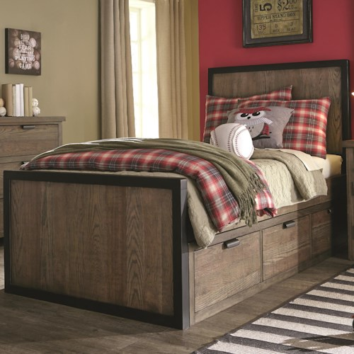 Legacy Classic Kids Fulton County Twin Panel Bed with 3 Under Bed Storage Drawers