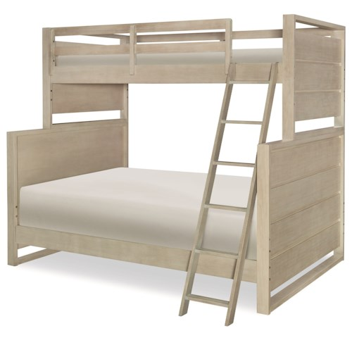 Legacy Classic Kids Indio by Wendy Bellissimo Contemporary Twin over Full Bunk Bed with Ladder