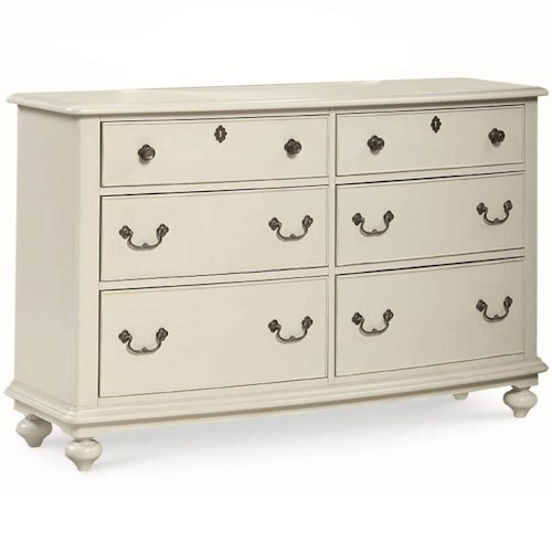 Legacy Classic Kids Inspirations by Wendy Bellissimo 6 Drawer Dresser with Bun Feet