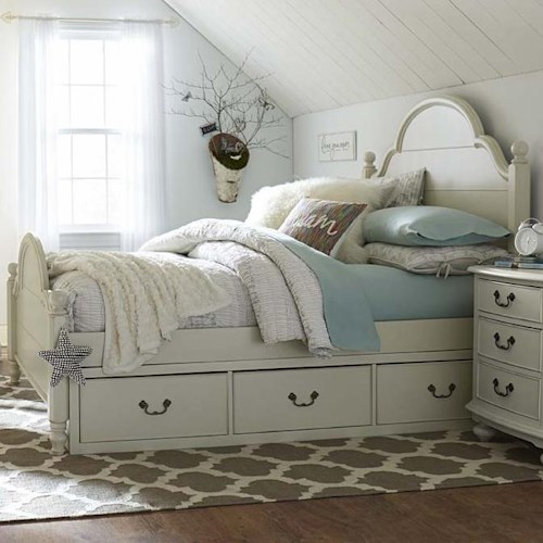 Legacy Classic Kids Inspirations by Wendy Bellissimo Twin Westport Low Poster Bed with Two-Sided Underbed Storage