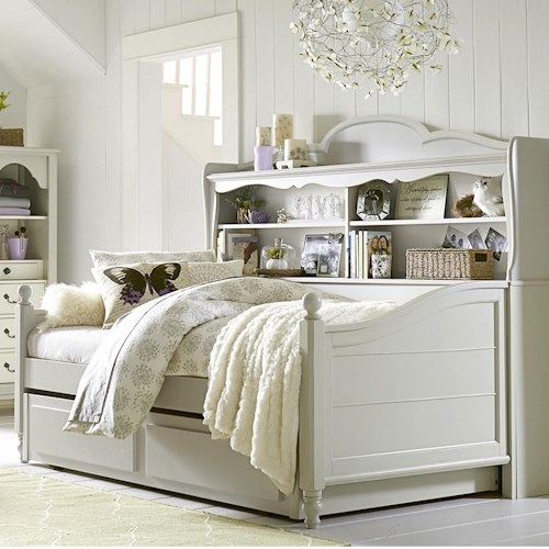 Legacy Classic Kids Inspirations by Wendy Bellissimo Twin Westport Bookcase Daybed with Trundle/Storage Drawer