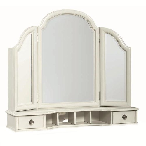 Legacy Classic Kids Inspirations by Wendy Bellissimo Vanity Mirror with 2 Drawers and 2 Mirrored Doors