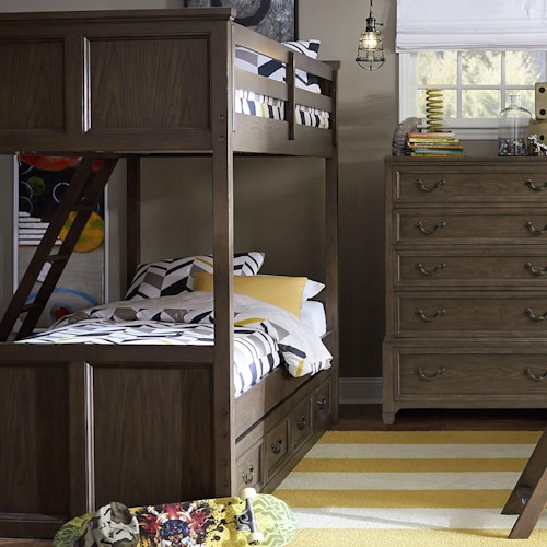 Legacy Classic Kids Kenwood Twin Over Twin Bunk Bed with Underbed Storage