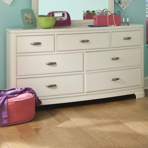 Legacy Classic Kids Park City White 7-Drawer Dresser