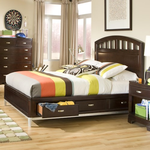 Legacy Classic Kids Park City Twin Platform Storage Bed with Slatted Headboard
