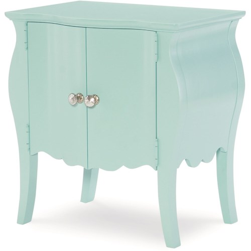 Legacy Classic Kids Topaz 2-Door Night Stand in Powder Blue Finish