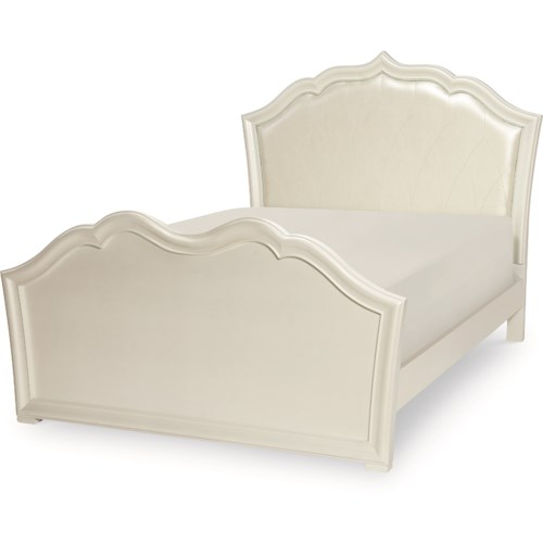 Legacy Classic Kids Tiffany Full Panel Bed with Upholstered Headboard
