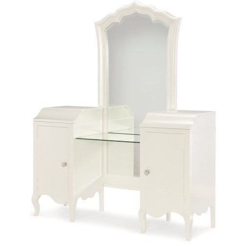 Legacy Classic Kids Tiffany Vanity & Mirror with Lift Lids