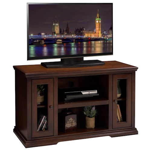 Legends Furniture Ashton Place 44 Inch TV Cart with Door and Shelf Storage