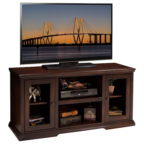 Legends Furniture Ashton Place 54 Inch TV Cart with Door and Shelf Storage