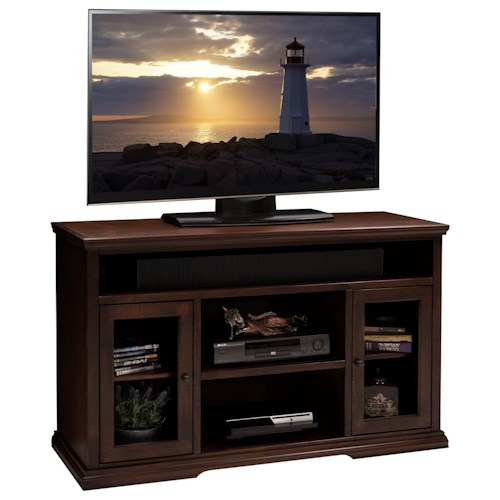 Vendor 1356 Ashton Place 54-Inch Tall TV Cart with Doors and Shelf Storage