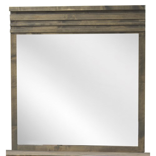 Legends Furniture Avondale Mid-Century Modern Mirror with Horizontal Grooves