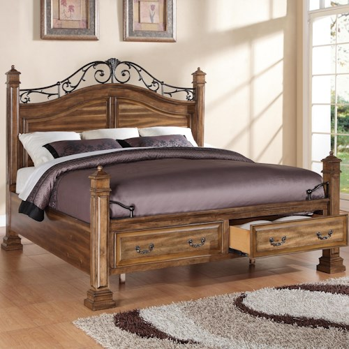 Legends Furniture Barclay Queen Storage Bed with 2 Drawers
